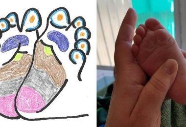 masajear el pie del bebé para lograr alivio de los dolores