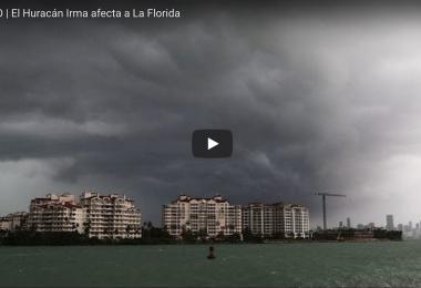 el paso del huracán Irma
