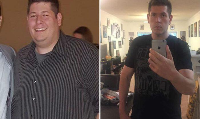 hombre pierde 65 kilos