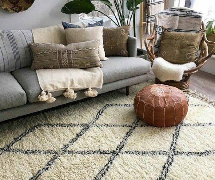 decorar con alfombras Beni Ourain