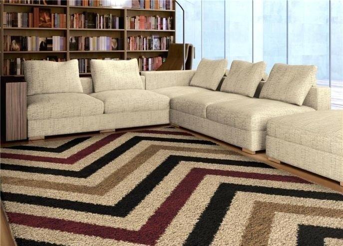 decorar con alfombras chevron
