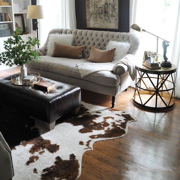 decorar con alfombras de animal