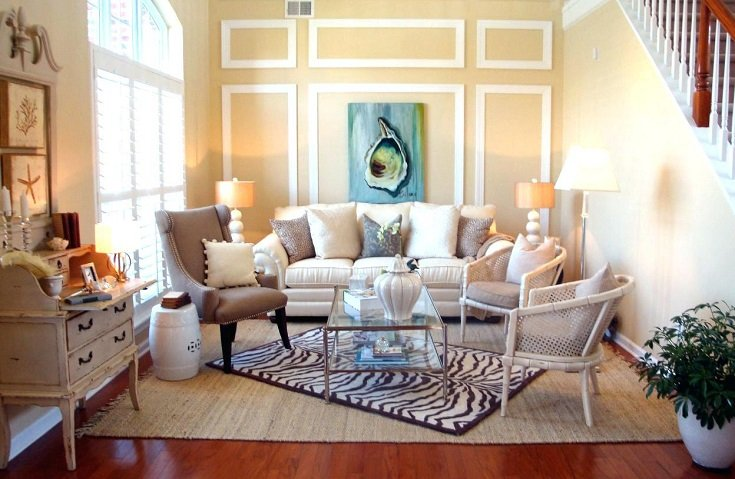 decorar con alfombras en capas