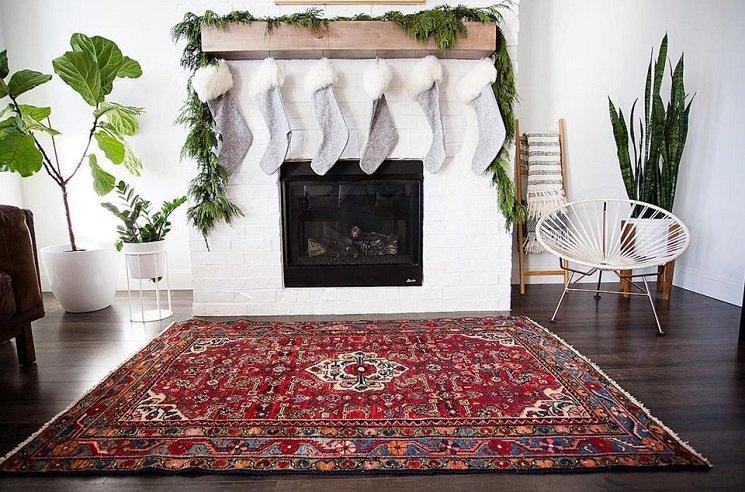decorar con alfombras vintage