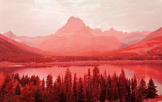paisaje de color rojo