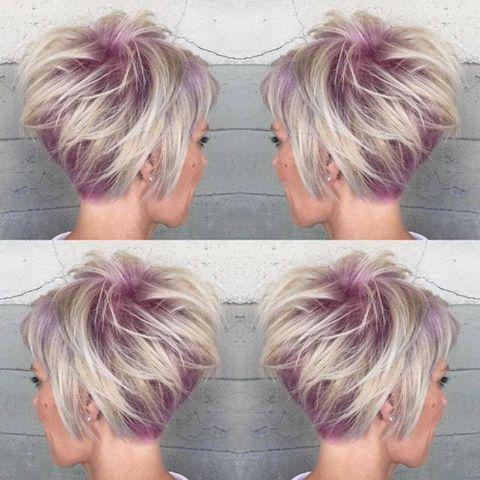 Una mujer joven con el corte de pelo pixie desmechado
