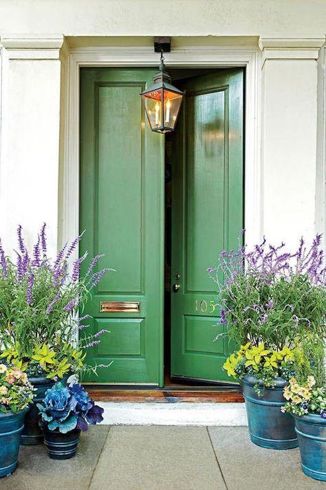 puerta principal color verde