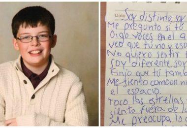 un niño con sindrome de asperger