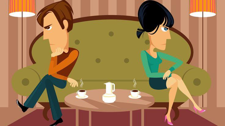 pareja con problemas de comunicación