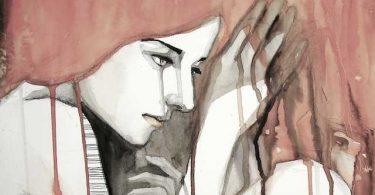 mujer que está a la defensiva - ilustración
