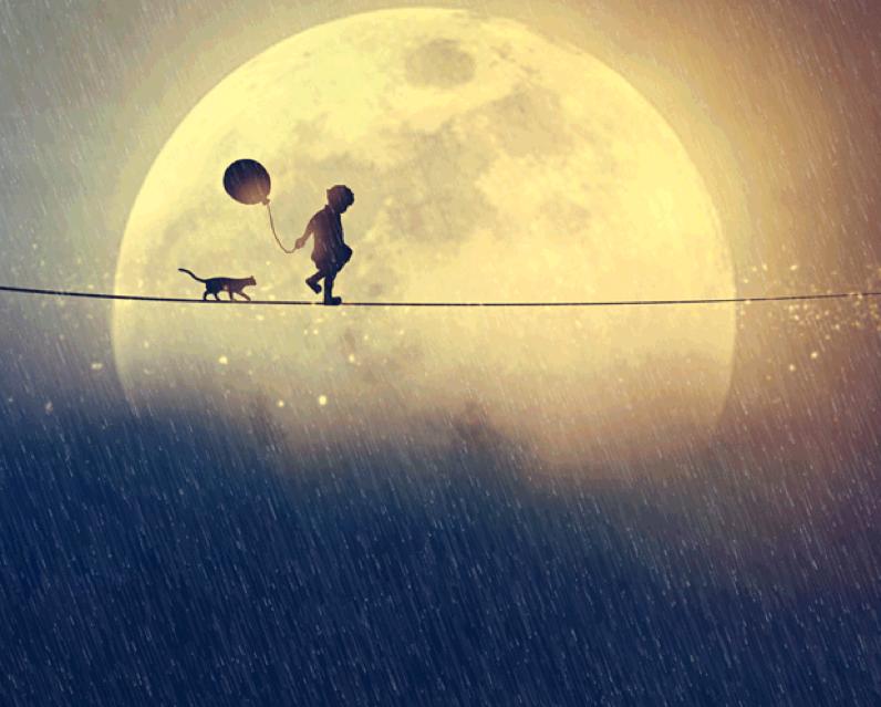 niño caminando por la cuerda