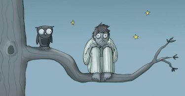 persona con insomnio que no puede dormir