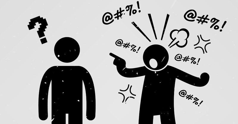 personas verbalmente agresivas
