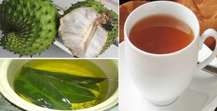 té de hojas de guanábana preparación