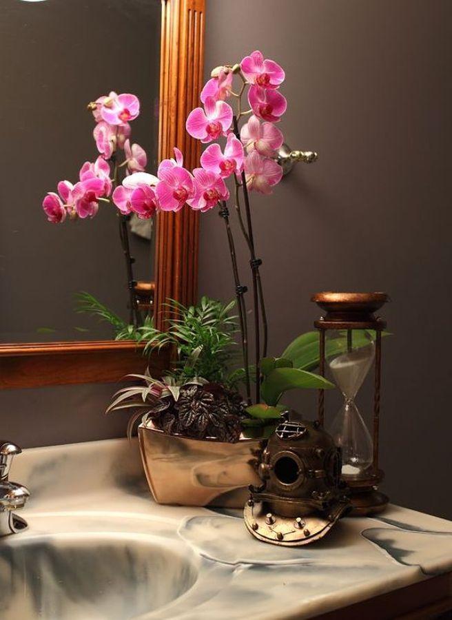 orquídeas en el cuarto de baño