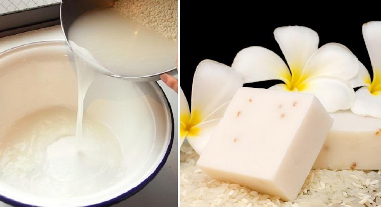 jabón de leche de arroz para la cara