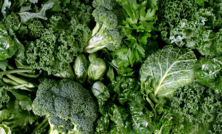vegetales verdes contra la inflamación