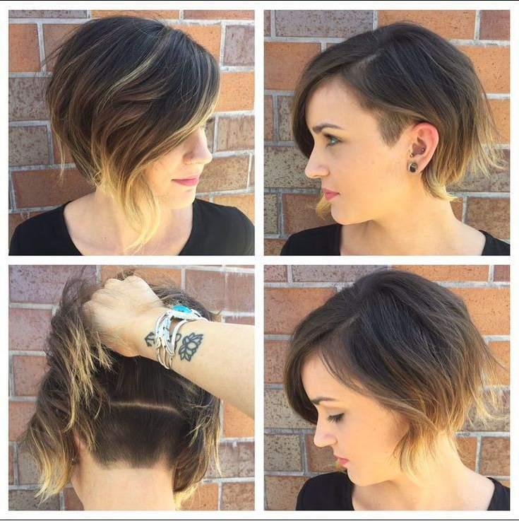 corte de pelo corto asimétrico