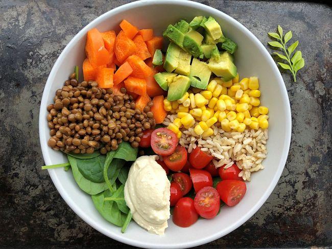 Ingredientes para la ensalada Take away