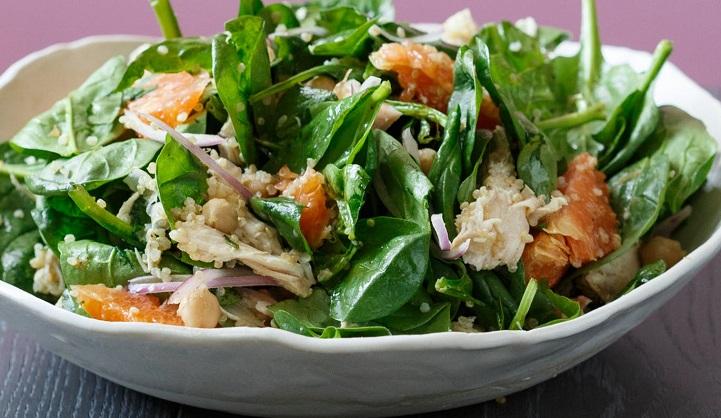 ensalada proteica con quinoa
