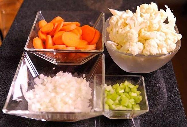 ingredientes para preparar la sopa de quinoa
