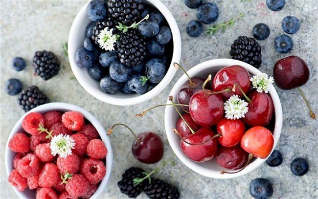 ingredientes para el zumo antioxidante de arándanos