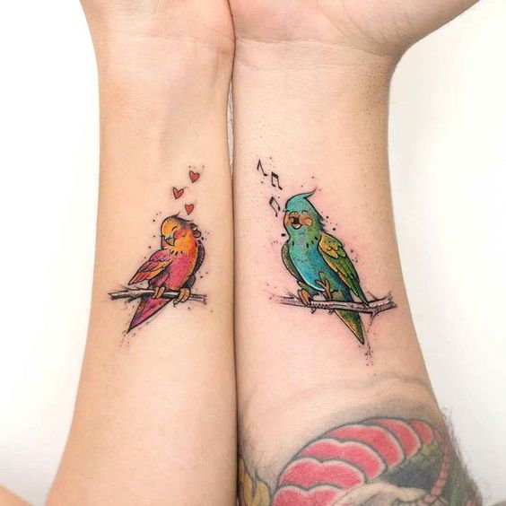 tatuajes para parejas con pájaros