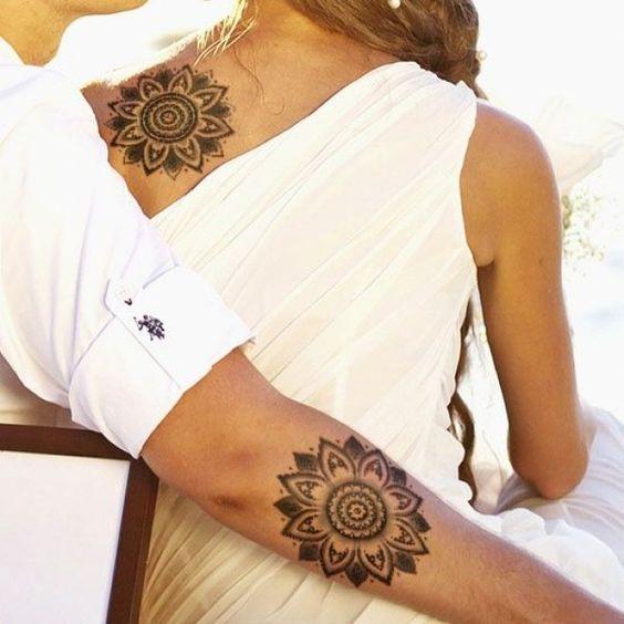 tatuajes para parejas con mandalas