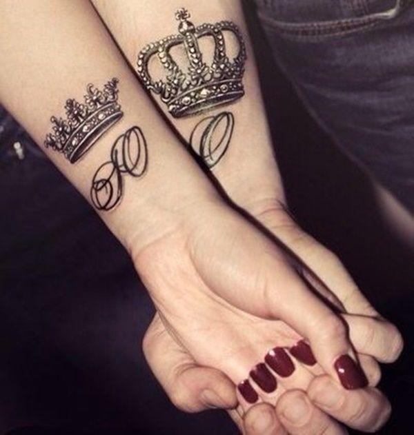 tatuajes para parejas de coronas