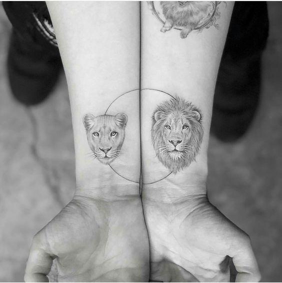 tatuajes para parejas con forma de animales