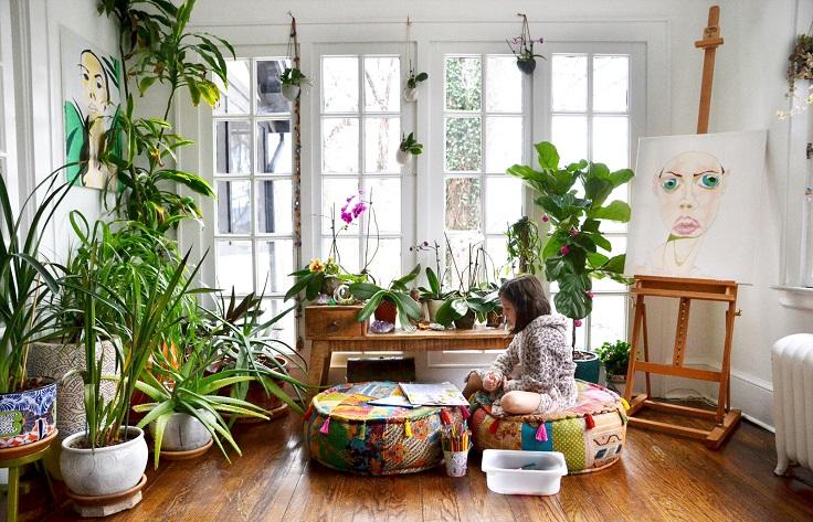 hogar más iluminado con plantas