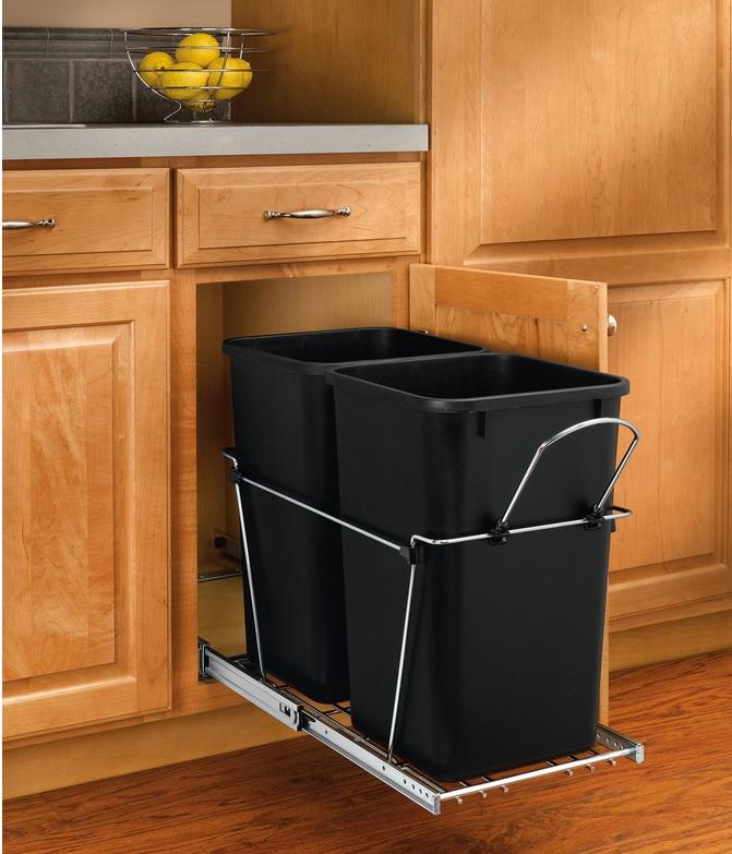 ideas para almacenar adentro de los gabinetes de la cocina