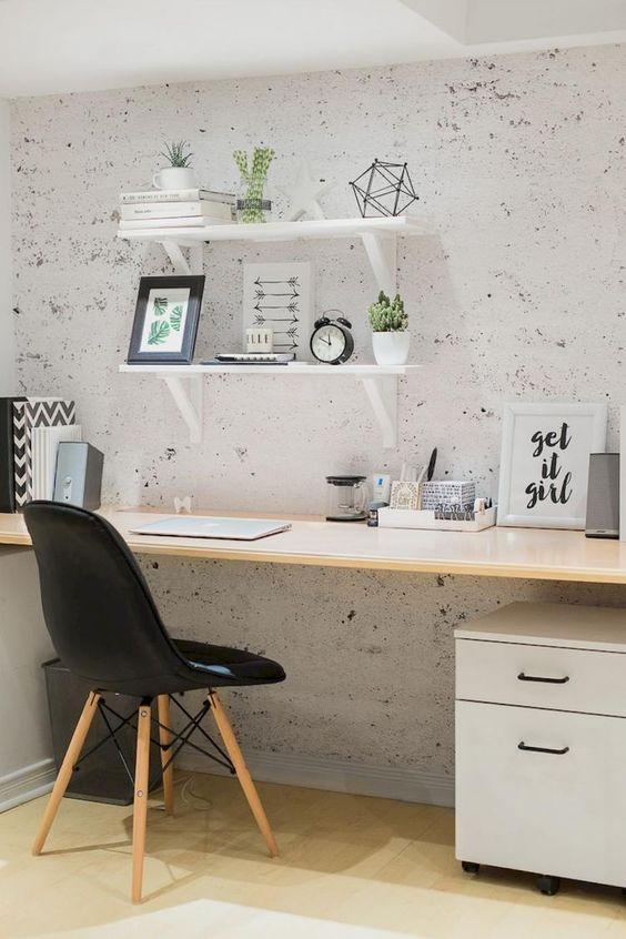 Decoración de la oficina aunque sea pequeña