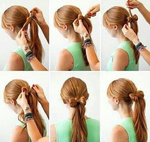 un tutorial para realizar peinados rápidos con coleta