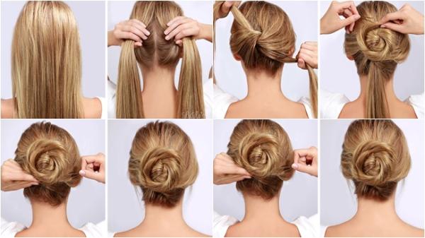 paso a paso como hacer un peinado rápido con rodete