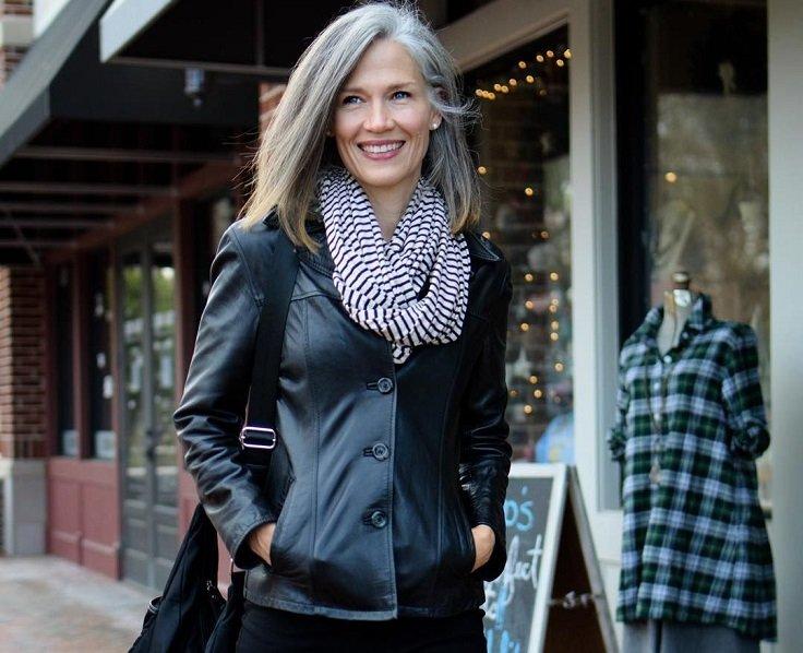 vestir con estilo con chaqueta de cuero