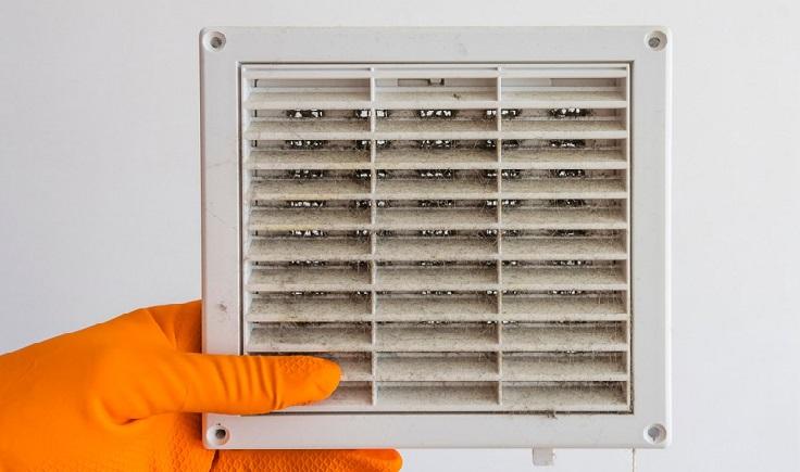 cosas en el hogar que se llenan de bacterias como las rejillas del aire