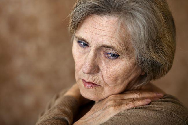 Una mujer con melancolía