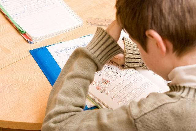 Un niño que padece problemas de dislexia y dificultad en el aprendizaje