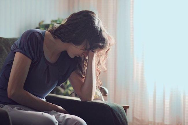Una mujer que sifre depresión mayor
