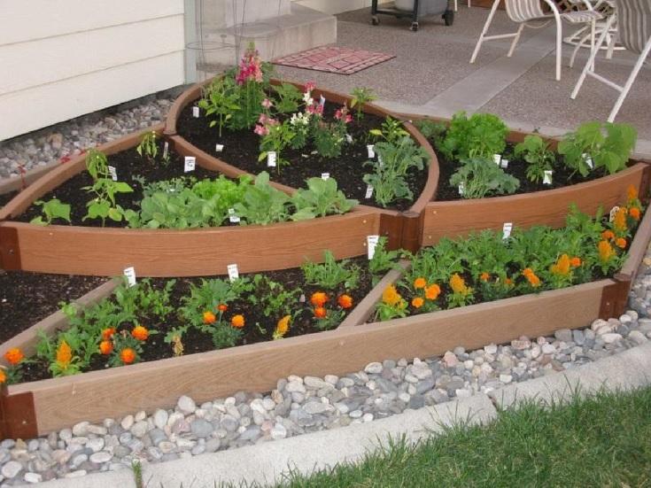 jardínes hermosos de vegetales
