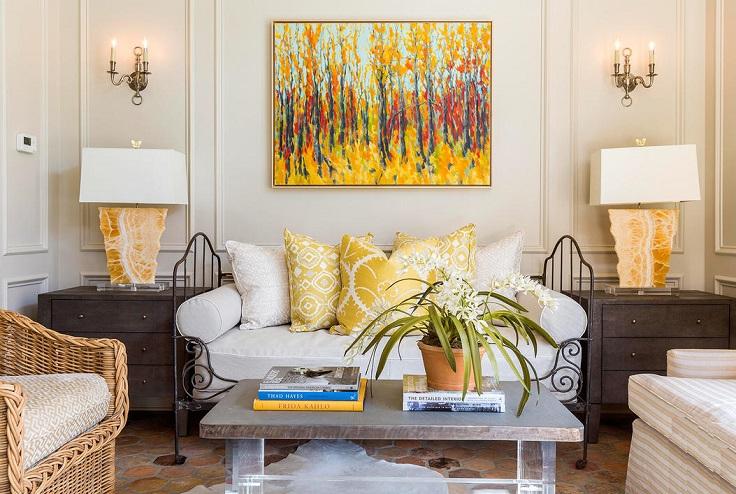 una casa más hermosa decorada en oro