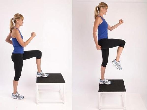 cuerpo curvilíneo con step ups