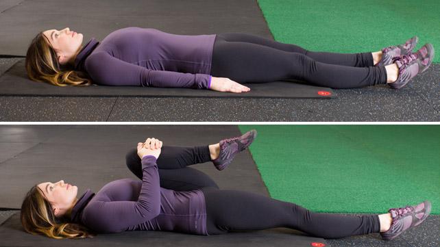 aliviar el dolor muscular flexión de cadera