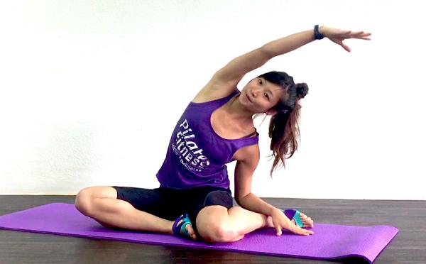 aliviar el dolor muscular flexión lateral