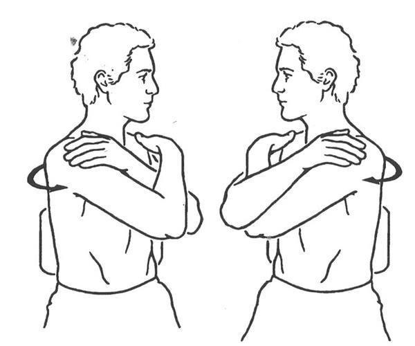 aliviar el dolor muscular girando el tronco