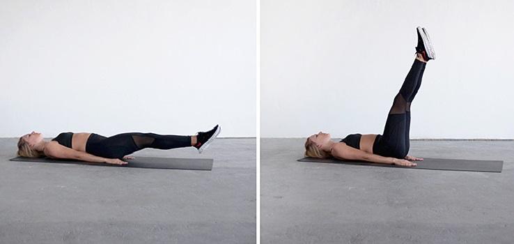 mujeres mayores elevación de piernas