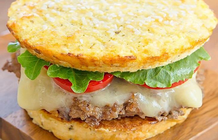 sandwiches de pan de coliflor