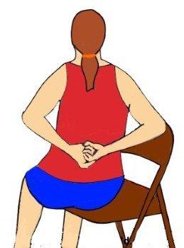 Cómo crujir la parte superior o inferior de la espalda