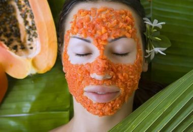 Una piel resplandeciente con 10 mascarillas con papaya